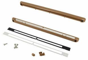 Entrée d'air aéraulique pour mortaise NICOLL long.250mm haut.12mm en kit complet pour menuiserie coloris bois clair - Gedimat.fr