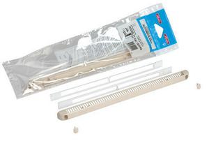 Entrée d'air aéraulique pour mortaise NICOLL long.250mm haut.12mm en kit complet pour volet roulant coloris sable - Gedimat.fr
