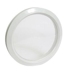 hublot rond pvc nicoll vitrage incolore coloris blanc. Black Bedroom Furniture Sets. Home Design Ideas