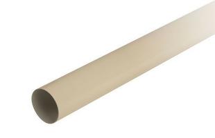 Tube de descente prémanchonné PVC NICOLL pour eaux pluviales diam.80mm long.4m sable - Gedimat.fr