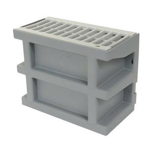Courette anglaise de ventilation NICOLL avec grille long.26cm larg.13,5cm haut.20cm coloris gris clair - Gedimat.fr
