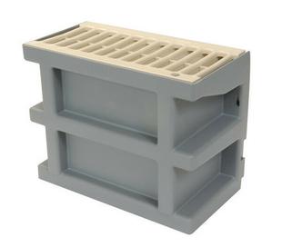 Courette anglaise de ventilation nicoll avec grille coloris - Grille ventilation vide sanitaire ...