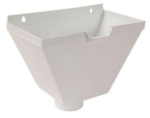 bo te eau pvc pour tube d 39 vacuation d 39 eau de goutti re coller coloris blanc. Black Bedroom Furniture Sets. Home Design Ideas