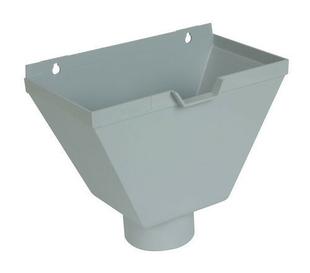 bo te eau pvc pour tube d 39 vacuation d 39 eau de goutti re coller coloris gris. Black Bedroom Furniture Sets. Home Design Ideas