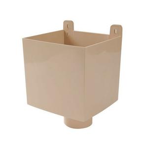 bo te eau pvc pour tube d 39 vacuation d 39 eau de goutti re coller coloris sable. Black Bedroom Furniture Sets. Home Design Ideas