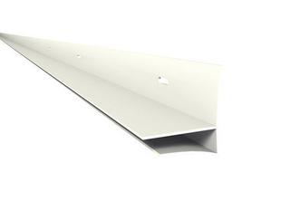 Prolifé de grande finition pour habillage de plaquette de débord de toit Nicoll Belriv long.4m coloris blanc - Gedimat.fr