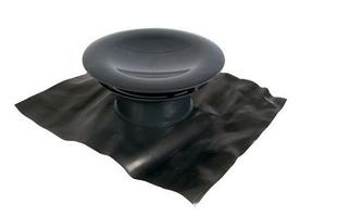 Châpeau de sortie aéraulique sur toiture diam.160mm coloris gris ardoise - Gedimat.fr