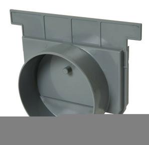 Fond/naissance pour caniveau PVC NICOLL NAX188 gamme Connecto larg.200mm sortie diam.125mm coloris gris clair - Gedimat.fr