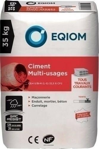 fd7973cd9c Ciment gris CEM II CE NF 32,5 Multi-usagesEQIOM sac de 35kg - Gedimat.fr