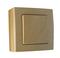 Bouton poussoir simple série BEL'VUE pour pose en saillie intensité 10A coloris hêtre - Gedimat.fr