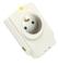 Prise de courant parafoudre Sécurity PRO pour installation électrique bipolaire 2P+T 16A avec protection téléphone et télévision - Gedimat.fr