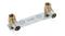 Coude applique à sertir sur support mural pour tube fluxo diam.20mm sortie à visser diam.15x21mm - Gedimat.fr
