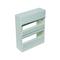 Coffret modulaire de distribution électrique blanc à équiper 2 rangées de 26 modules - Gedimat.fr