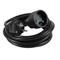 Rallonge prolongateur électrique mâle femelle 2 pôles + terre 16A avec cordon d'alimentation rond coloris noir câble H05VVF 3G1,5mm² long.3m sur plaquette de 1 pièce - Gedimat.fr