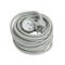 Rallonge prolongateur électrique mâle femelle 2 pôles + terre 16A avec cordon d'alimentation rond coloris gris câble H05VVF 3G1,5mm² long.10m sur plaquette de 1 pièce - Gedimat.fr