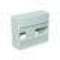 Coffret modulaire de distribution électrique blanc à équiper 1 rangée de 13 modules - Gedimat.fr