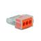 Borne électrique automatique avec alvéoles de test 3 pôles coloris orange 10 pièces - Gedimat.fr
