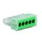 Borne électrique automatique avec alvéoles de test 5 pôles coloris vert 10 pièces - Gedimat.fr