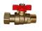 Mini vanne d'arrêt 1/4 tour avec écrou mobile mâle femelle 15x21 - Gedimat.fr
