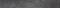 Plinthe carrelage pour sol en grès cérame émaillé METROPOLIS larg.7,5cm long.60,5cm coloris antracite - Gedimat.fr