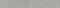 Plinthe carrelage pour sol en grès cérame émaillé BETONAGE larg.7,5cm long.60,5 cm coloris gris - Gedimat.fr