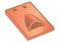 Tuile châtière pour tuiles plates 17x27 coloris rouge - Gedimat.fr