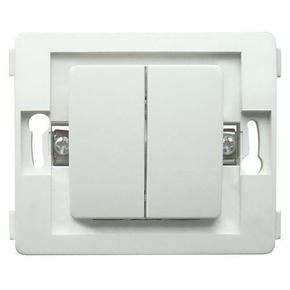 Interrupteur va et vient double série VENUS non monté 10A coloris blanc - Gedimat.fr