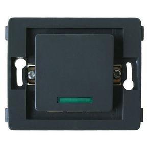 Interrupteur va et vient simple à voyant série VENUS non monté 10A coloris noir - Gedimat.fr