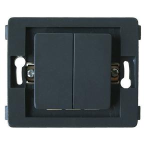Interrupteur va et vient double série VENUS non monté 10A coloris noir - Gedimat.fr
