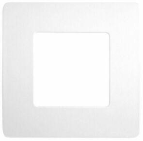 Plaque de finition pour appareillage série VENUS non monté dim.75x75mm coloris blanc - Gedimat.fr