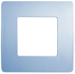 Plaque de finition pour appareillage série VENUS non monté dim.75x75mm coloris bleu pâle - Gedimat.fr