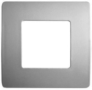 Plaque de finition pour appareillage série VENUS non monté dim.75x75mm coloris métal anodisé - Gedimat.fr