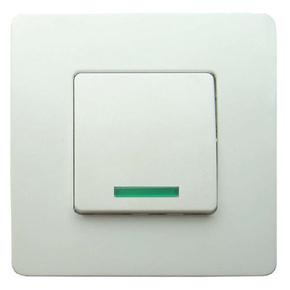 Interrupteur va et vient simple à voyant série VENUS monté 10A coloris blanc - Gedimat.fr