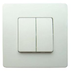 Interrupteur va et vient double série VENUS monté 10A coloris blanc - Gedimat.fr