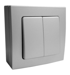 Interrupteur ou va et vient double série BEL'VUE pour pose en saillie intensité 10A coloris chrome - Gedimat.fr
