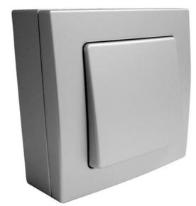 Bouton poussoir simple série BEL'VUE pour pose en saillie intensité 10A coloris chrome - Gedimat.fr