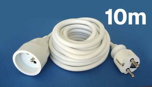 Câble électrique souple H05VVF section 3G1,5mm² coloris blanc en bobine de 10m - Gedimat.fr
