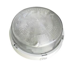 Hublot d'éclairage rond polypropylène 1/4 de tour coloris blanc pour lampe à culot à visser E27 puissance 60W maxi - Gedimat.fr