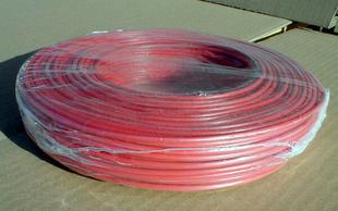 Câble électrique rigide unifilaire H07VU diam.2,5mm² coloris rouge en couronne de 25m - Gedimat.fr