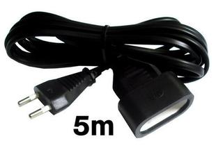 Câble électrique méplat H03VHH2F diam.2x0,75mm² coloris noir long.5m - Gedimat.fr