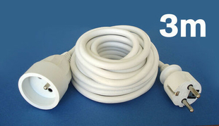 Câble électrique souple H05VVF section 3G1,5mm² coloris blanc en bobine de 3m - Gedimat.fr