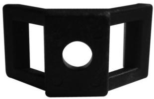 Embase à visser pour collier de câblage coloris noir en sachet de 20 pièces - Gedimat.fr