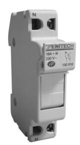 Coupe-circuit électrique modulaire domestique ZENITECH unipolaire + neutre 16A 220V - Gedimat.fr
