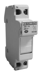 Coupe-circuit électrique modulaire domestique ZENITECH unipolaire + neutre 20A 220V - Gedimat.fr