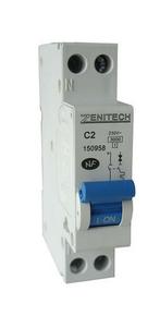 Disjoncteur électrique modulaire ZENITECH unipolaire + neutre 220V intensité 2A - Gedimat.fr