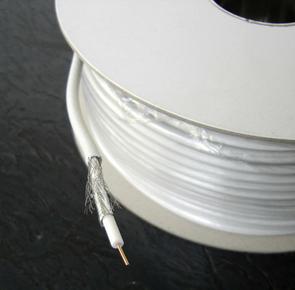 Câble coaxial pour antenne télévision type 21PATCA diam.6,8mm coloris blanc long.50m - Gedimat.fr