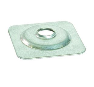 Plaquette galvanisée pour plaque support de tuiles, dim.40x40mm, pour rondelle feutre diam.20 - boite de 100 pièces - Gedimat.fr