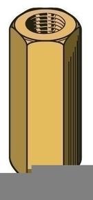 Manchon hexagonal long.20mm pour tige filetée M6 - boite de 100 pièces - Gedimat.fr