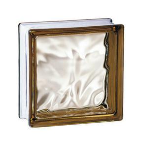 Brique de verre 198 ép.8cm dim.19x19cm nuagée bronze - Gedimat.fr