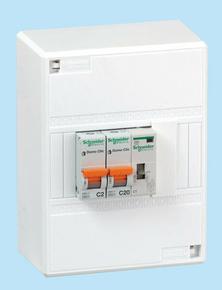 Coffret chauffe eau tableaux 1 rangée 3 modules montés câblés technologie peignable XP 3 pièces - Gedimat.fr